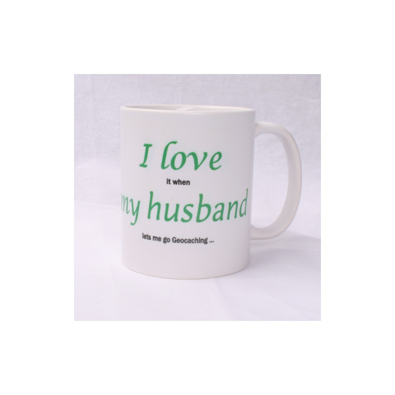 Koffie + thee mok: I love my husband