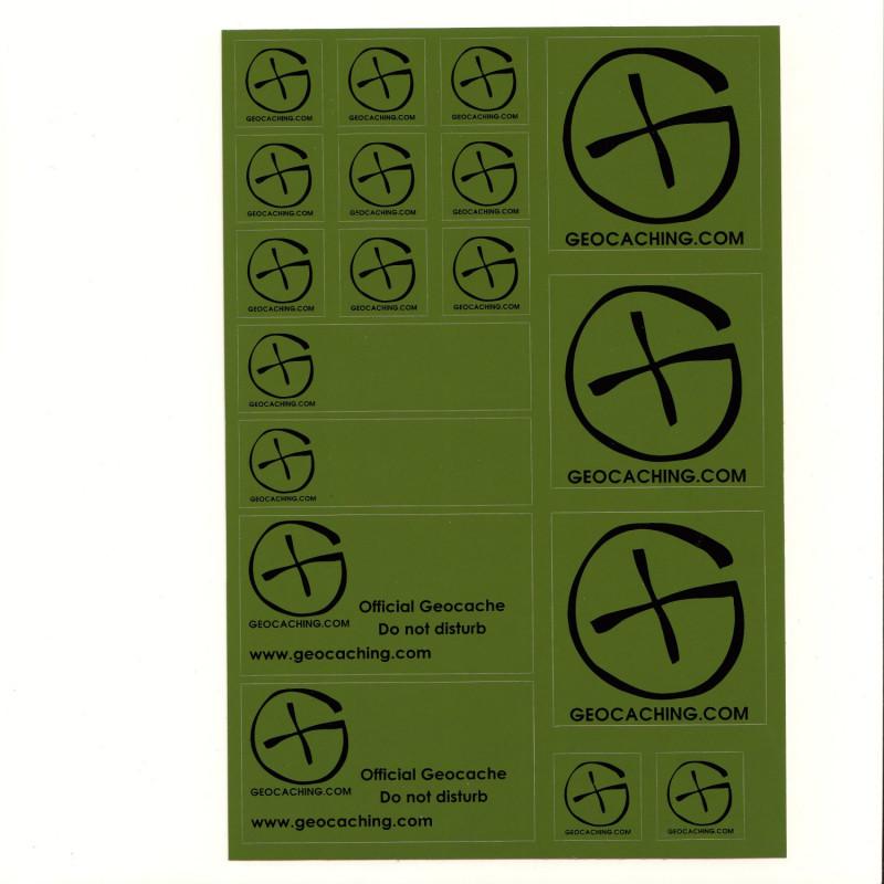 Stickervel A5 - Green
