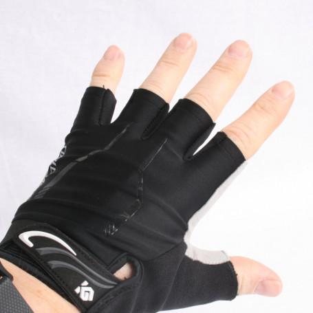 Fietshandschoenen Coolchange zwart half-vinger