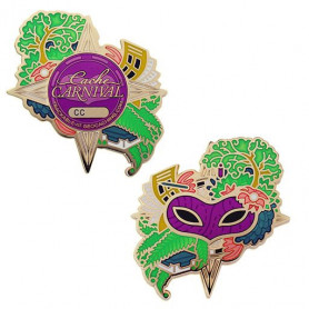 Cache Carnival Geocoin en Traveltag set