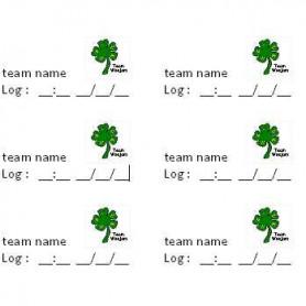 Log Team Stickers, 38 x 21 mm, 65 pcs
