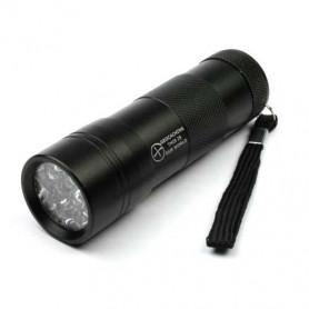 UV flashlight 12 LED black, incl batteries