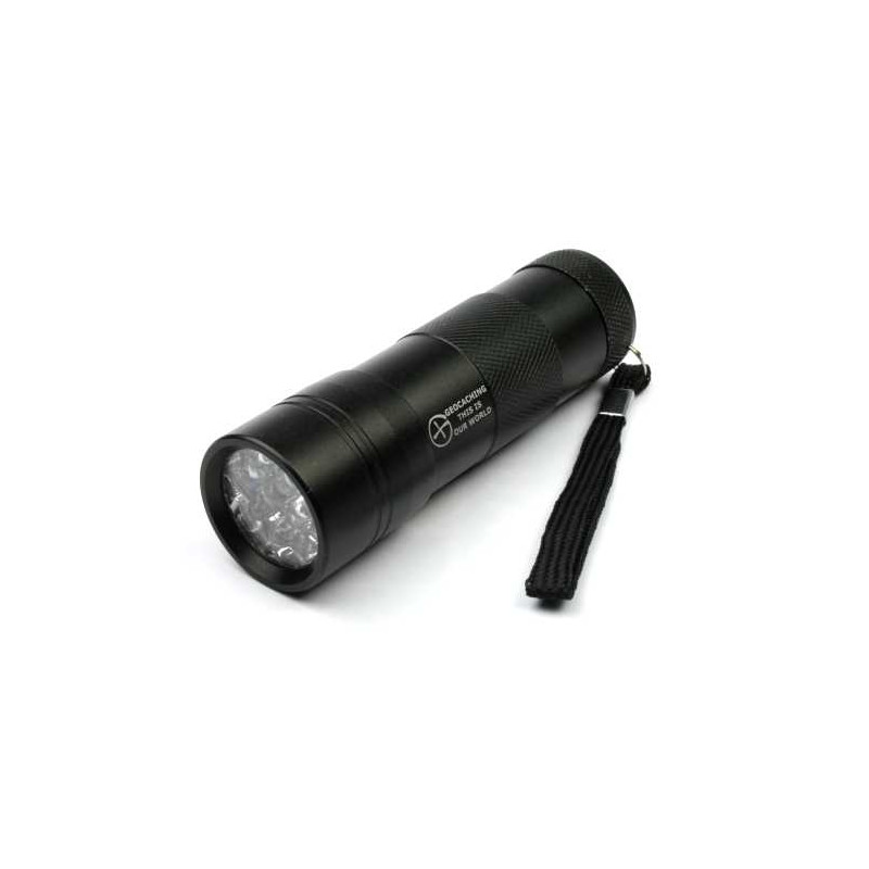 UV flashlight 12 LED black