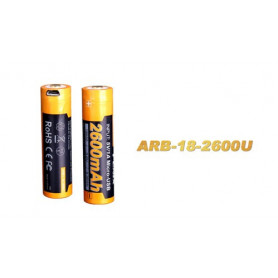Fenix 18650 accu - 2600mAh USB