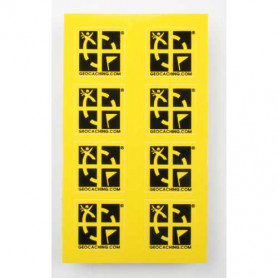 Mini sticker 8 pack yellow or green 2 x 2 cm