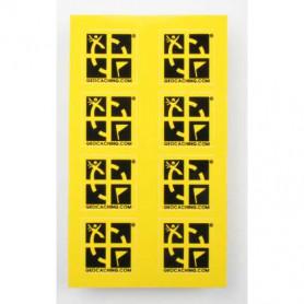 Mini sticker 8 pak geel of groen 2 x 2 cm