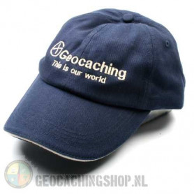 Hat, Geocaching this is our world, blue