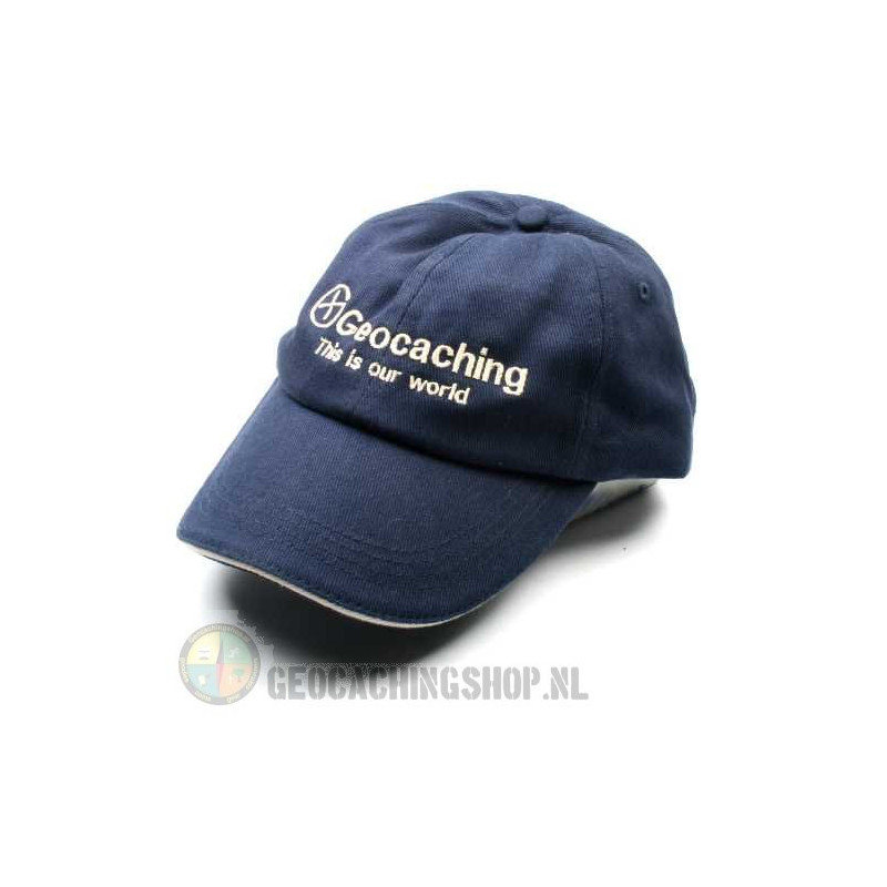Pet, Geocaching this is our world, blauw