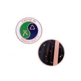 CITO geocoin - tiny blue dot