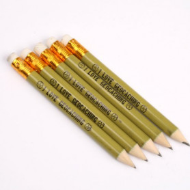 Pencil green with eraser, set of 5