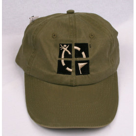 Hat, groundspeak, ammo green with logo
