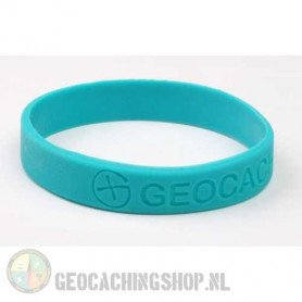 Wristband - Geocaching, this is our world - blue