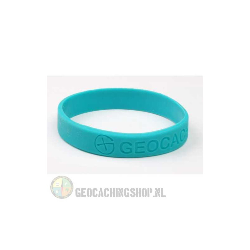 Armband - Geocaching, this is our world - blauw
