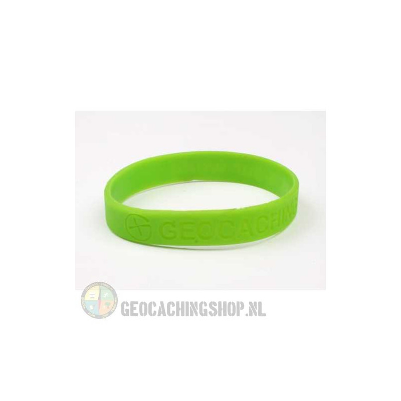 Armband - Geocaching, this is our world - groen