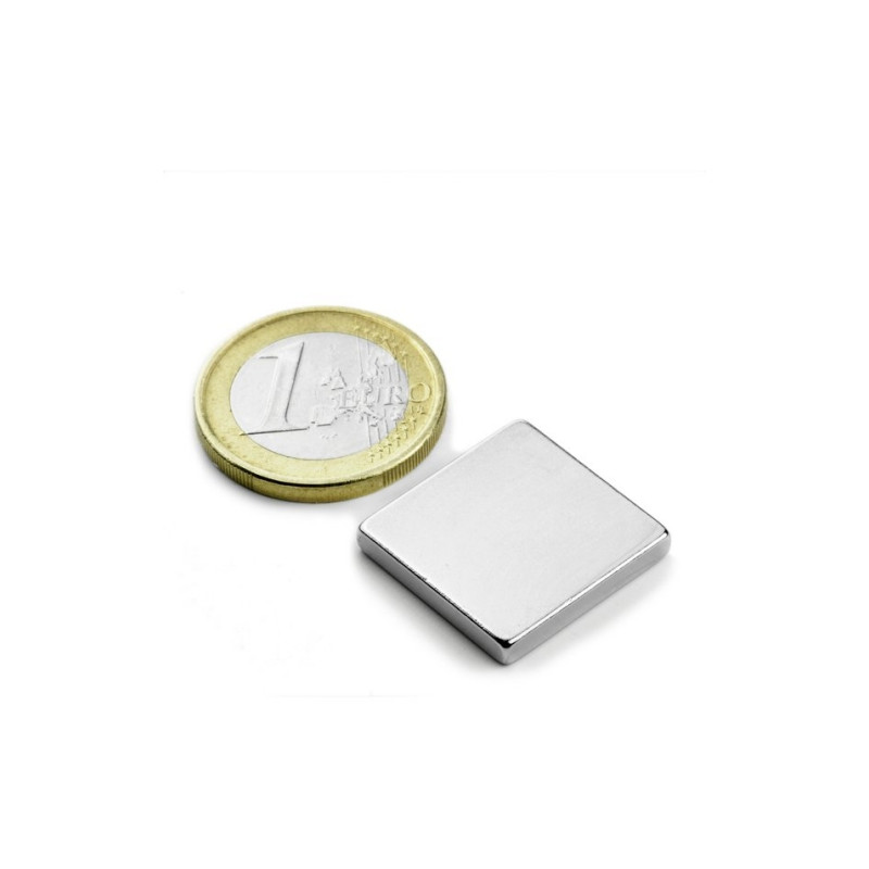 5 pieces 20 mm x 20 mm x 3 mm Neodym Magnets