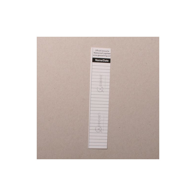 Logsheet waterproof 2,1 x 11 cm, 1 sheet