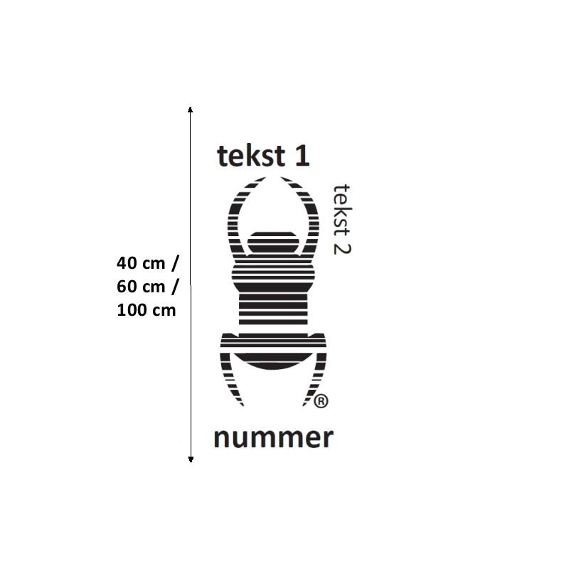 Travel Bug - Sticker - XXXL, decal