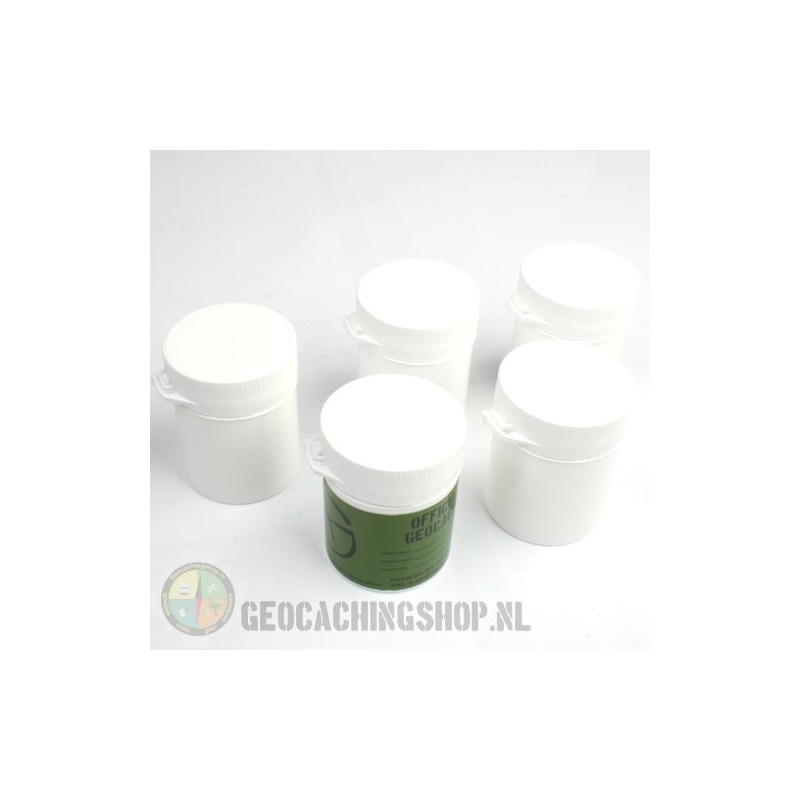 Micro container 105 ml wit, 5 stuks