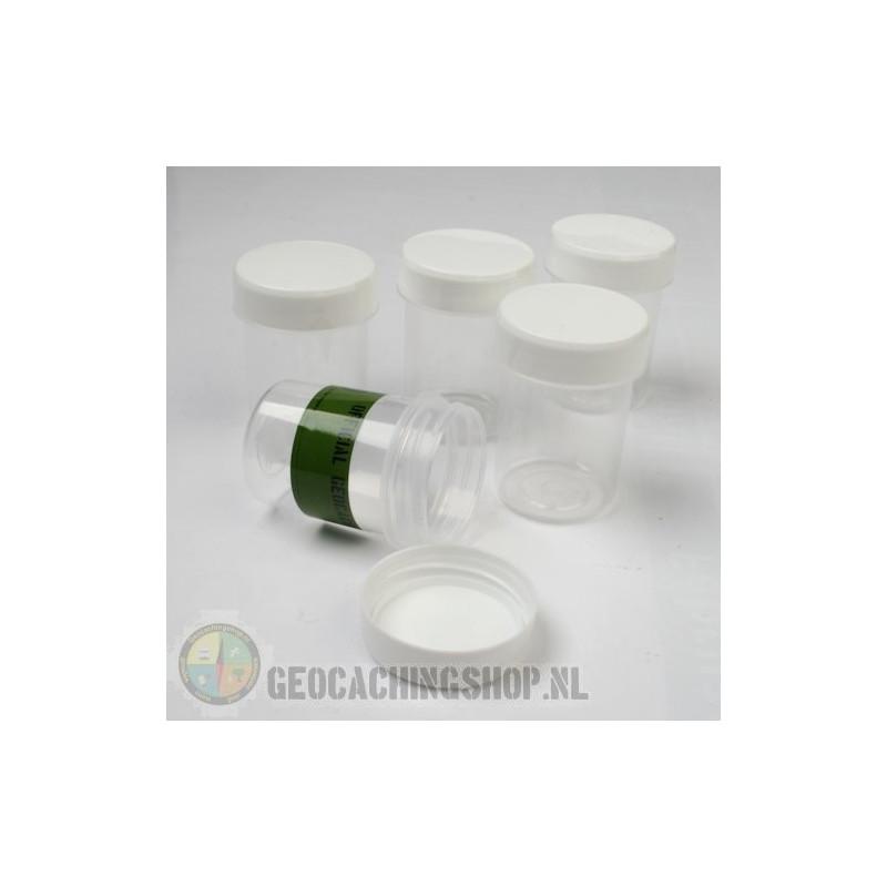 Micro container 40 ml witte dop (filmkoker formaat), 5 stuks