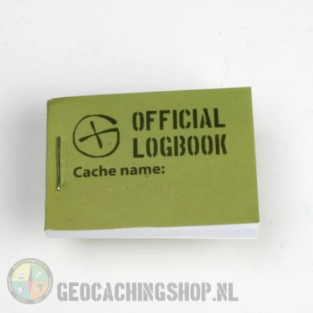 Logbook Green Geocaching, 35x50mm, 200 logs