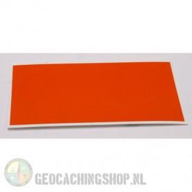Reflector Foil 100 mm x 50 mm Oranje