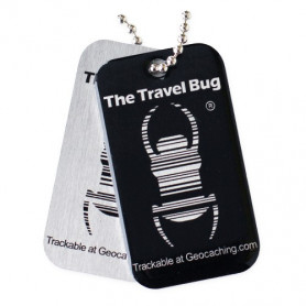 QR Travel Bug® - Zwart
