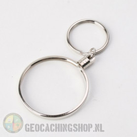 Coin ring Zilver 45mm