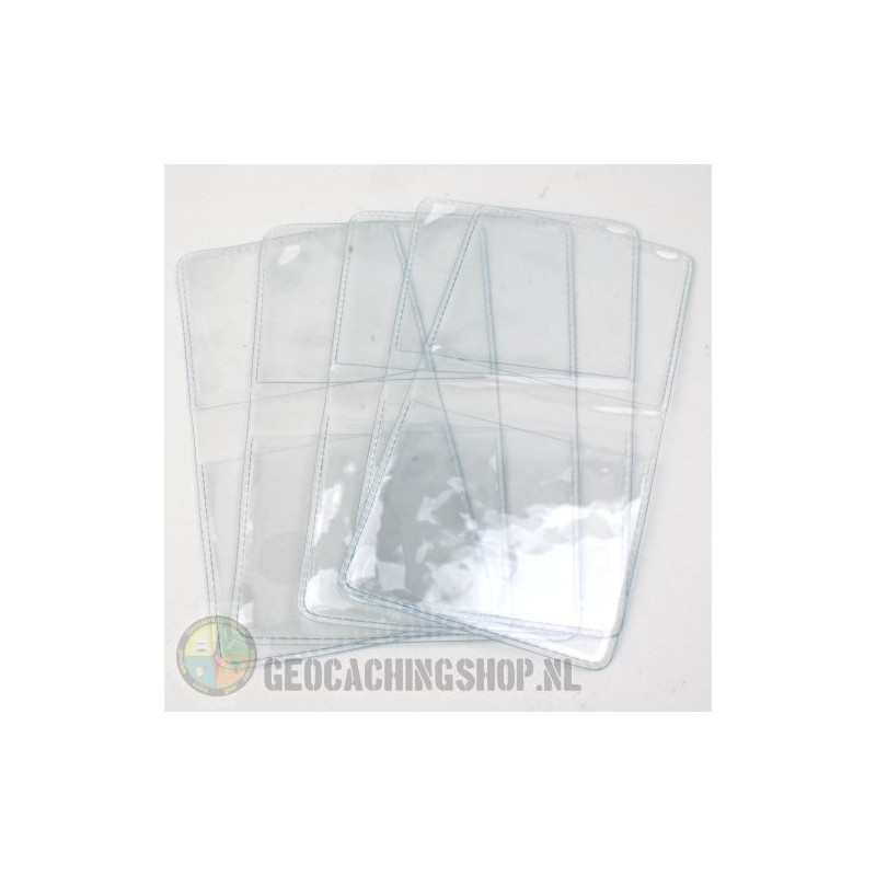 Geocoin vinyl pouches, 5 pcs