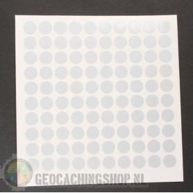 Reflector folie - 100 x Dots - white/silver