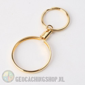 Coin ring Gold 38mm