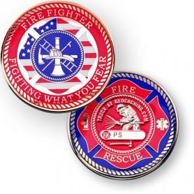 Firefighter Geocoin