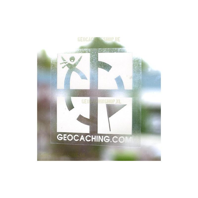 Window cling (inside) logo white 12,5 x 12,5 cm
