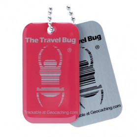 QR Travel Bug® - Atomic Pink