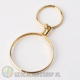 Coin ring Gold 45mm