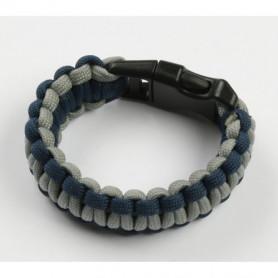 Paracord bracelet - Blau mit Grau - S