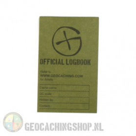 Logboek Groen Geocaching, 80x50mm, 50 pag.