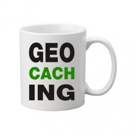 Kaffee + Teebecher: Geocaching letters Grün