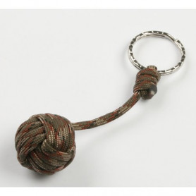 Paracord keyring- monkey fist - brown