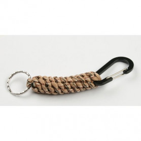 Paracord carabiner with keyring - camo