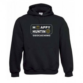 "Hoody ""Happy Hunting"" geel"