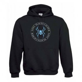 "Hoody ""Lost Places"" - spider blue"