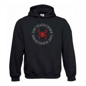 "Hoody ""Lost Places"" - Spinne rot"