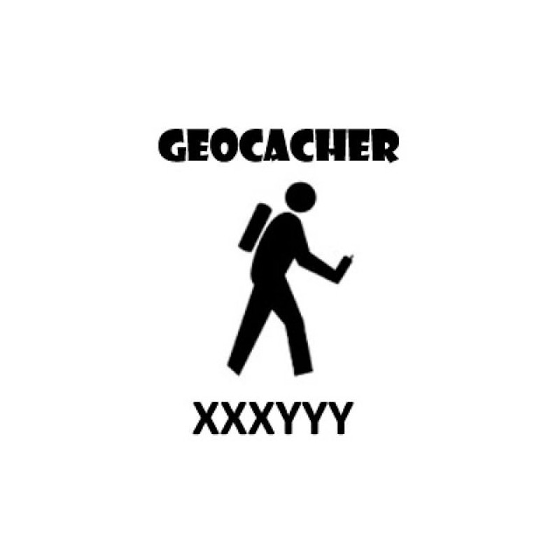 Geocacher - trackable sticker