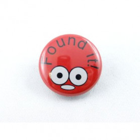 Button - Found It - Red