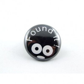 Button - Found It - Zwart