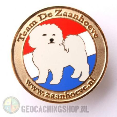 Zaanhoeve geocoin - gold LE