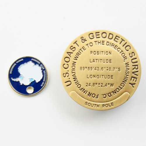 benchmark Geocoin South pole