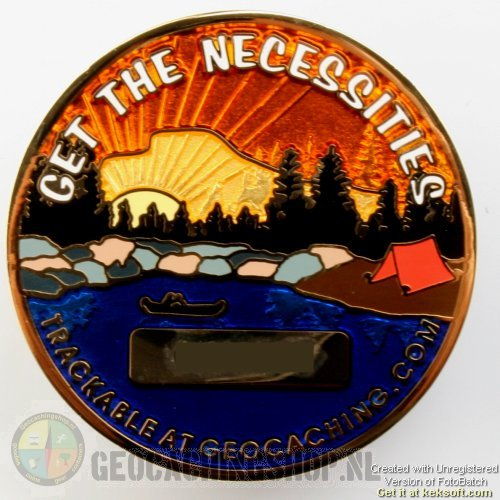 Eat, sleep and cache Geocoin