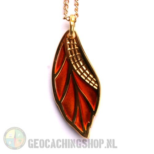 Fall leave Pendant Orange