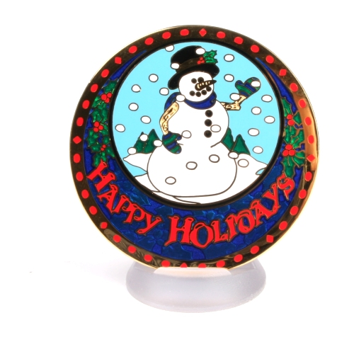 Happy Holidays Geocoin